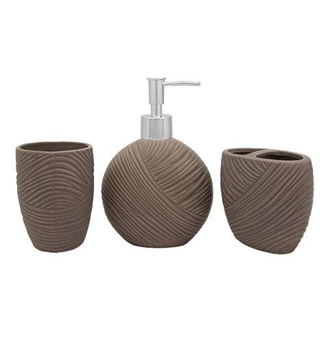 bathroom accessories ceramic buy home grey ceramic bathroom accessories set of