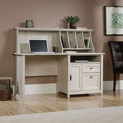 computer desk with hutch edge water computer desk with hutch 419088 sauder