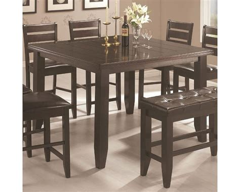 contemporary counter height dining table coaster page contemporary counter height table co 102728