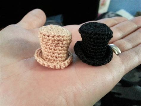 how to knit a tiny hat crochet mini top hat