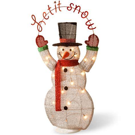 lighted snowman outdoor indoor decoration yard
