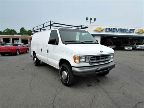 how cars run 2001 ford econoline e350 electronic toll collection purchase used 2001 ford econoline cargo van utilty work vans automatic v6 gas saver fords in