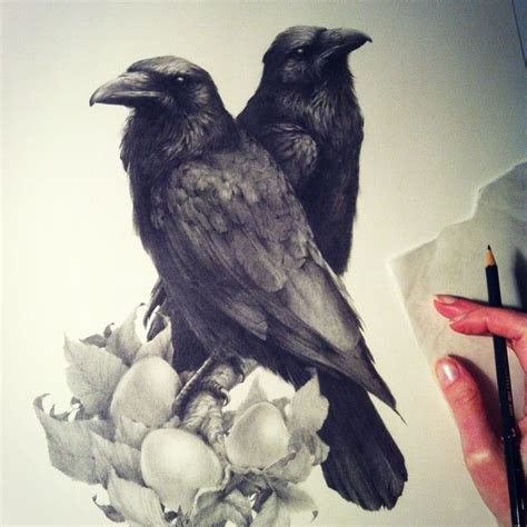 126 best tattoos images on pinterest crow tattoos raven