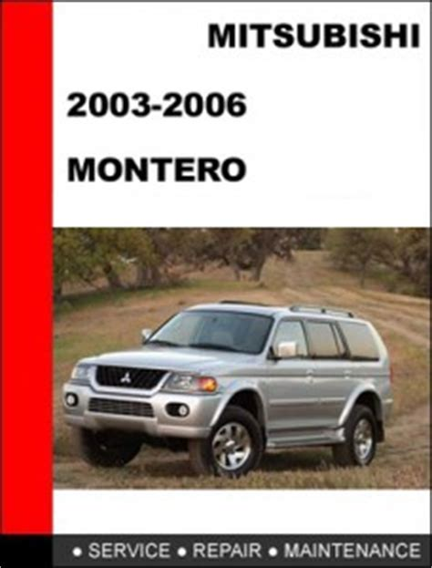 mitsubishi pajero montero workshop manual pdf download mitsubishi montero pajero 2006 mechanical service repair manual mitsubishi workshop service