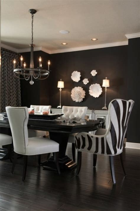 paint colors that go with zebra print black and white dining room contemporary dining room
