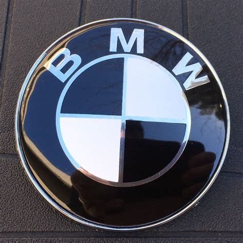 Black And White Bmw Emblem by Bmw Black White Logo 82mm 3 1 4 In Ornament Emblem