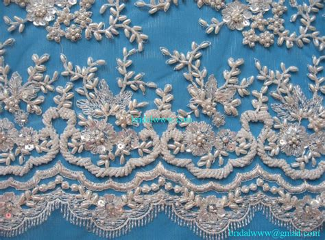 beaded lace fabric 15 yards custom made quality precious ivory exquisite