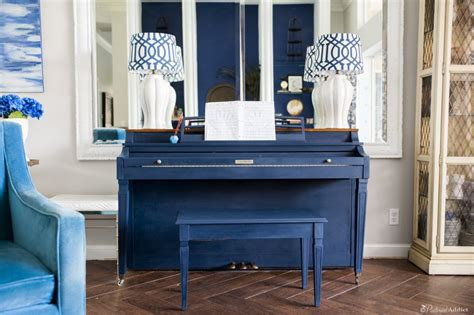 chalkboard paint navy blue how to paint a piano with chalk paint