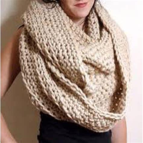 oversized knit scarves oversized knit circle scarf fashion