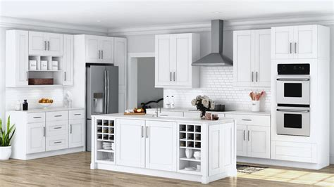 home kitchen furniture shaker wall cabinets in white kitchen the home depot
