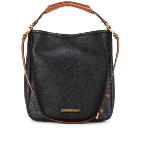 marc black leather tote marc by marc hobo large leather tote in black lyst