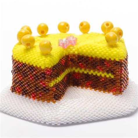 beaded cake simnel cake bead kit beadflowers dean