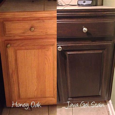 java stain kitchen cabinets kitchen stained oak china cabinet java gel stain oak