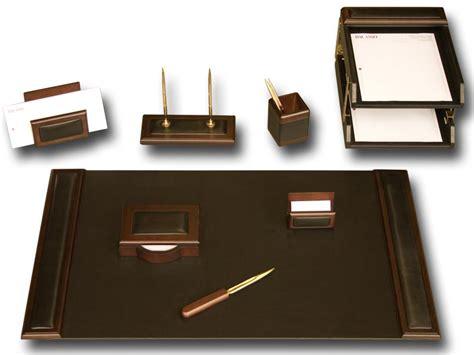 leather desk set d8420 walnut leather 10 desk set