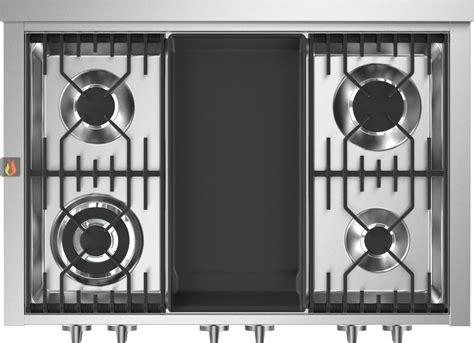 table de cuisson mixte gaz vitroc 233 ramique 90 cm pose libre inox 6 foyers dont 1 plancha steel