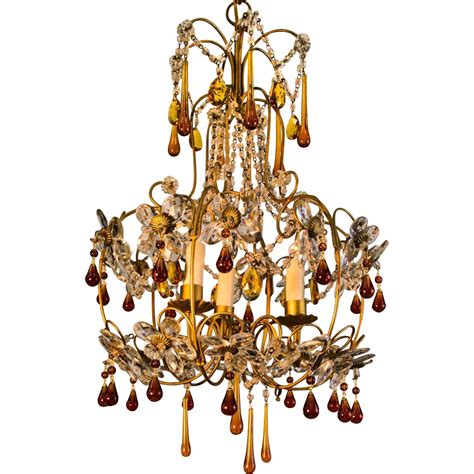 and gold chandelier mid century gold italian birdcage 3 light chandelier from table m on ruby