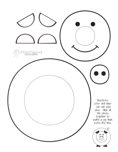 printable craft quot paint a pig quot printable craft for turns out way
