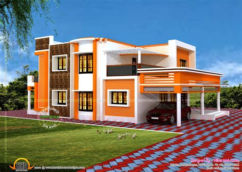 house building plans floor plan of modern flat roof house kerala home design and floor plans