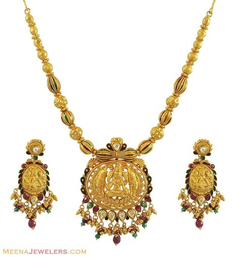 jewelry gold indian temple jewelry 22k gold stan10710 22k gold
