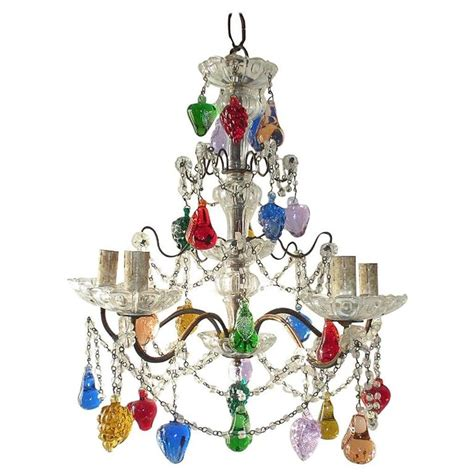 murano fruit chandelier murano multi colored fruit chandelier at 1stdibs