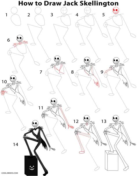 how to draw step by step how to draw skellington step by step pictures