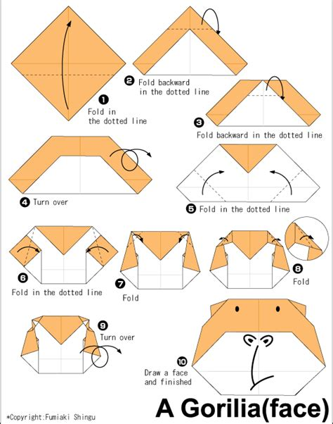 how to make 3d origami animals gorilla easy origami for