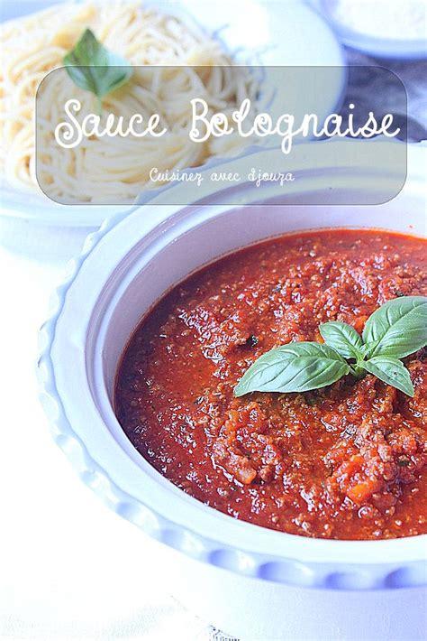 sauce bolognaise recette facile recettes faciles recettes rapides de djouza