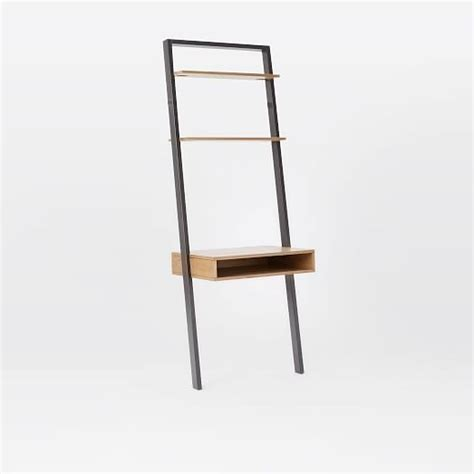 desk and bookshelf ladder shelf desk narrow bookshelf set west elm