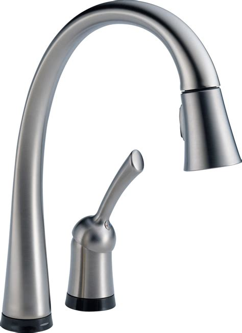touch kitchen faucet delta 980t dst pilar single handle pull kitchen