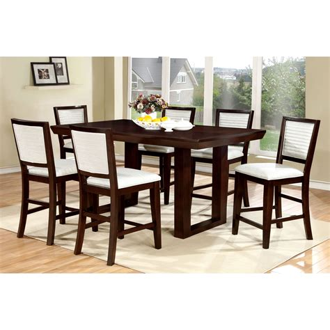 contemporary counter height dining table furniture of america colter contemporary counter height