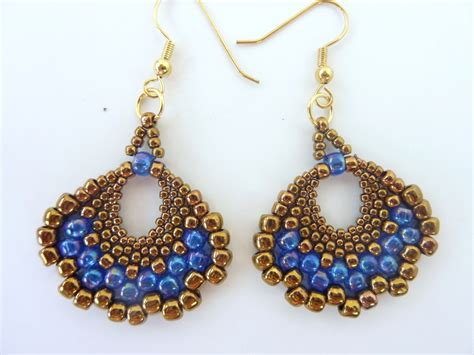 free beaded earring patterns free beading pattern for peyote fan earrings