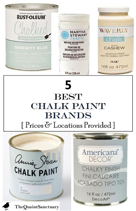 chalk paint locations the quaint sanctuary 5 best chalk paint brands with