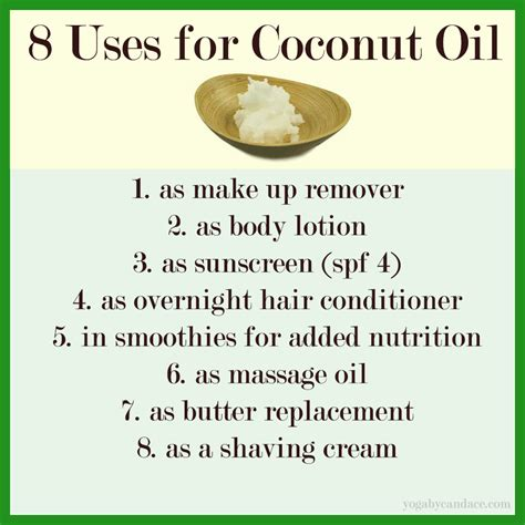 uses for 8 uses for coconut yogabycandace