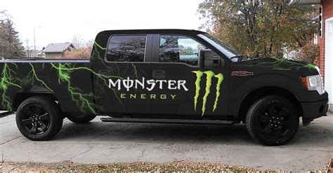 Monster Energy Sticker Truck by Monster Energy Full Body Wrap On 2010 Ford F 150 All