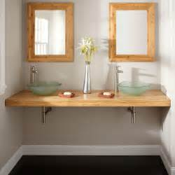 bathroom vanity sink top 25 quot x 22 quot bamboo vessel sink vanity top vanity tops