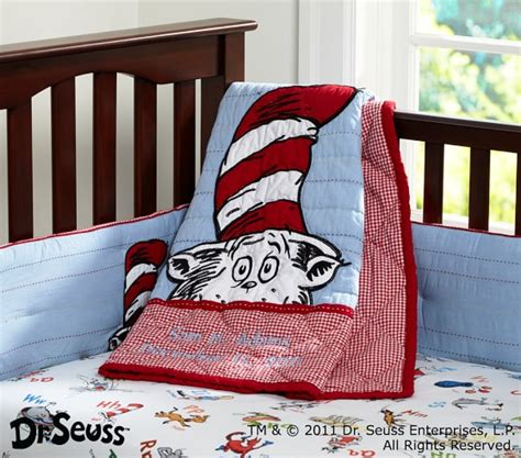 cat in the hat crib bedding set dr seuss cat in the hat nursery bedding set pottery