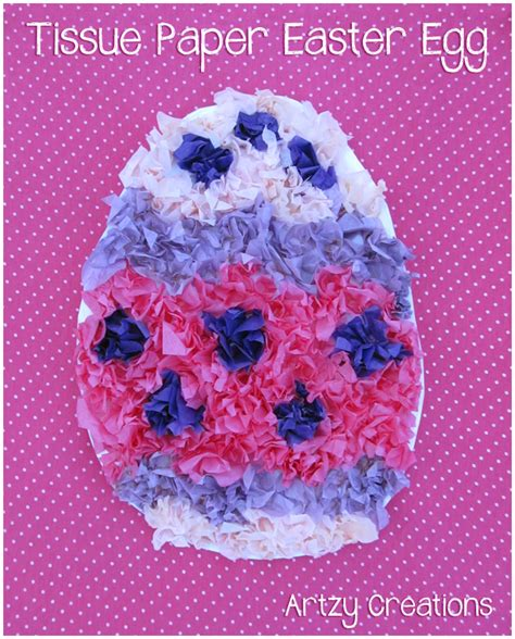 tissue paper easter crafts coffee filter watercolor easter eggs artzycreations