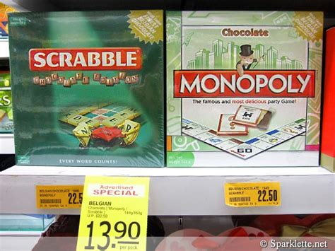 scrabble chocolate edition spotted scrabble and monopoly the chocolate editions
