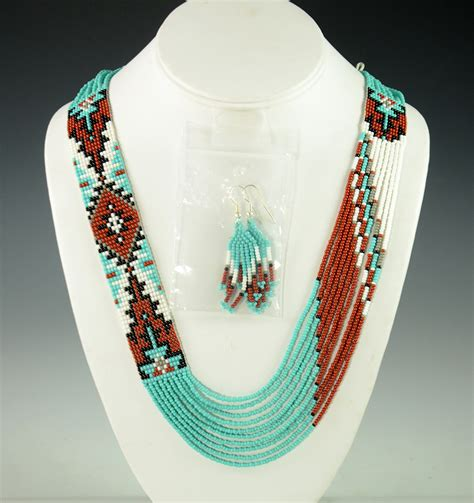 indian beaded jewelry beaded navajo necklace rena charles