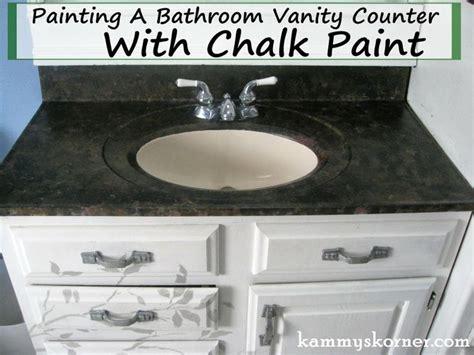 diy chalk paint vanity kammy s korner painting a porcelain vanity countertop