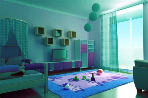 colors for rooms this bedroom is painted in an aqua color and decorated in