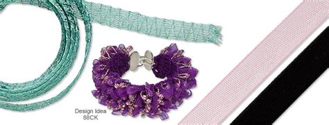 how to make ribbon jewelry projects ribbon cording mountain gems and