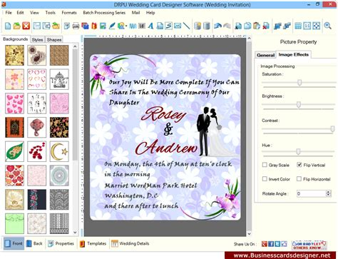 invitation card software free screenshots of wedding card designer software to learn how