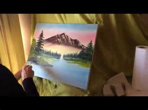 bob ross painting time lapse time lapse of me painting bob ross quot mountain retreat