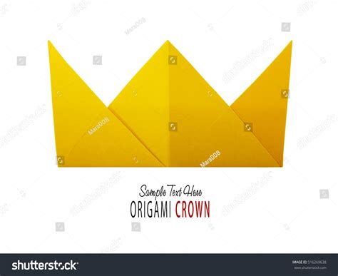 paper crown origami origami paper crown stock photo 516269638