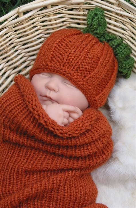 baby knit hats photo prop pumpkin hat and cocoon newborn knit pumpkin