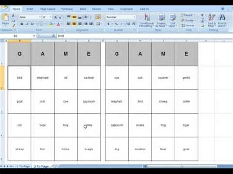 how to make bingo cards in excel bingo card generator microsoft excel