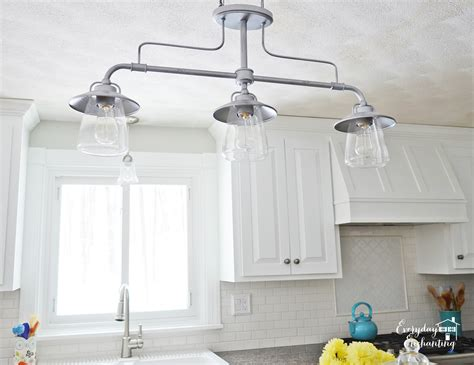 kitchen lights fixtures remodelaholic white kitchen overhaul with diy marble island