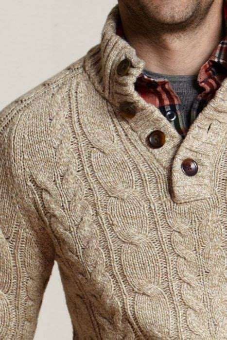 mens cable knit sweater oatmeal cable knit sweater plaid m e n s w e a r