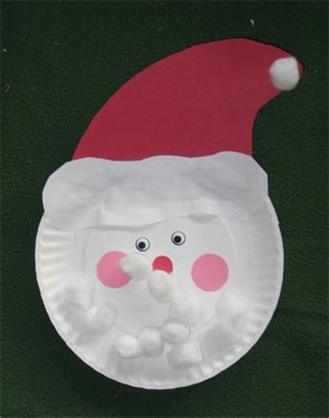santa paper plate craft craft day